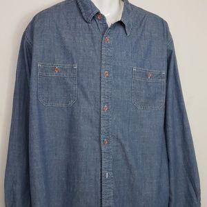 Weatherproof vintage mens chambray shirt sz XXL